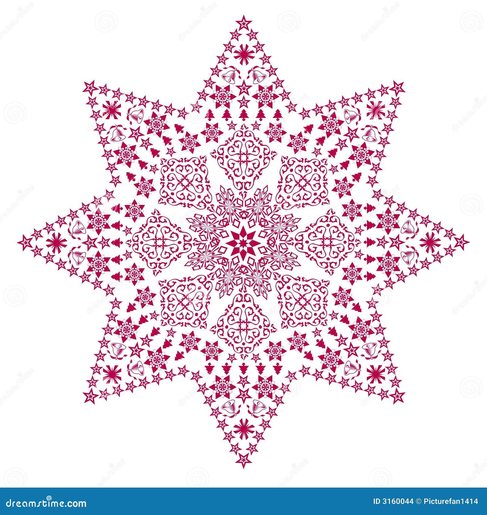 Rouge en filigrane d étoile