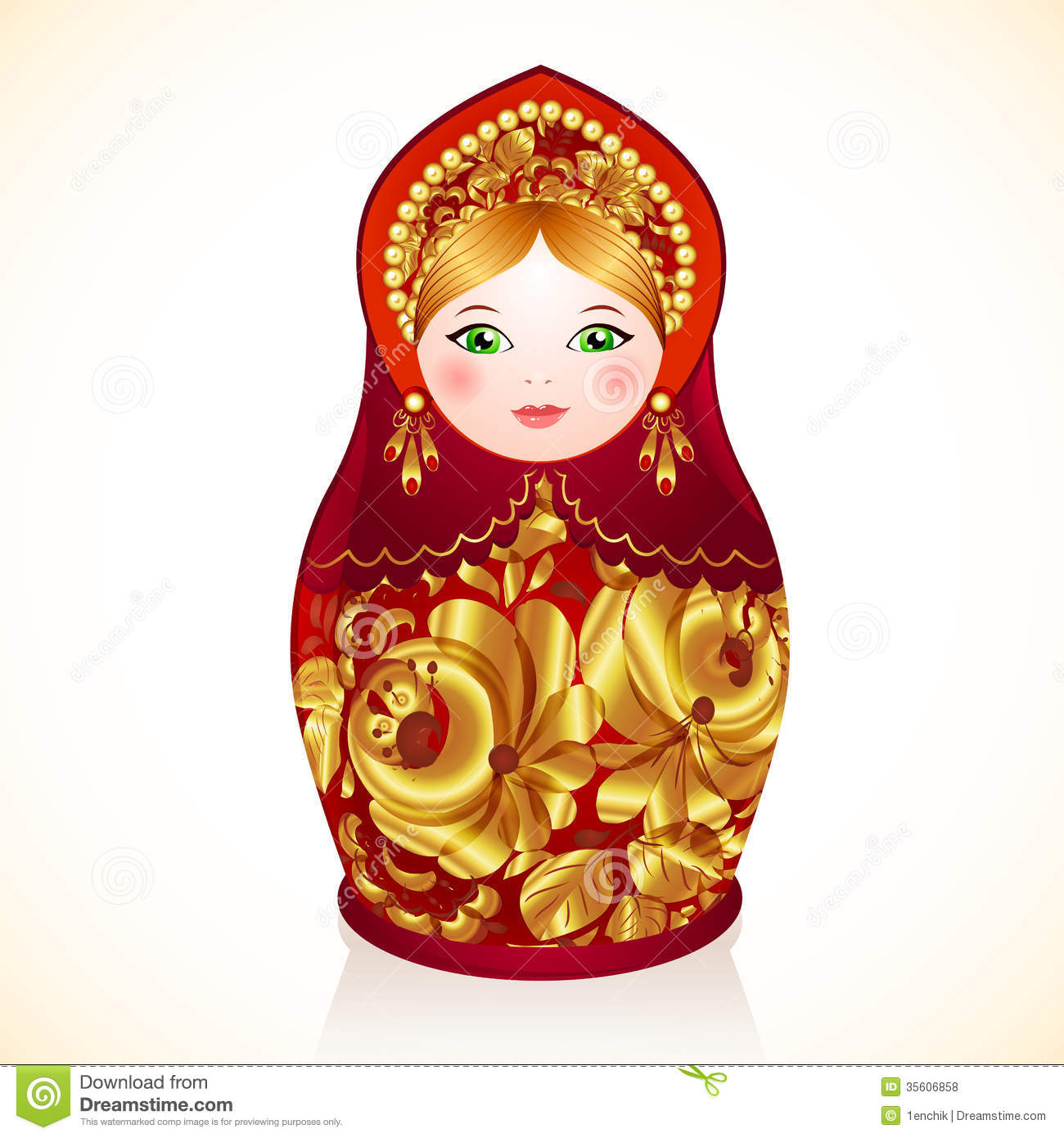 Rouge et poup e russe de couleurs d 39 or matryoshka photos for Poupee russe