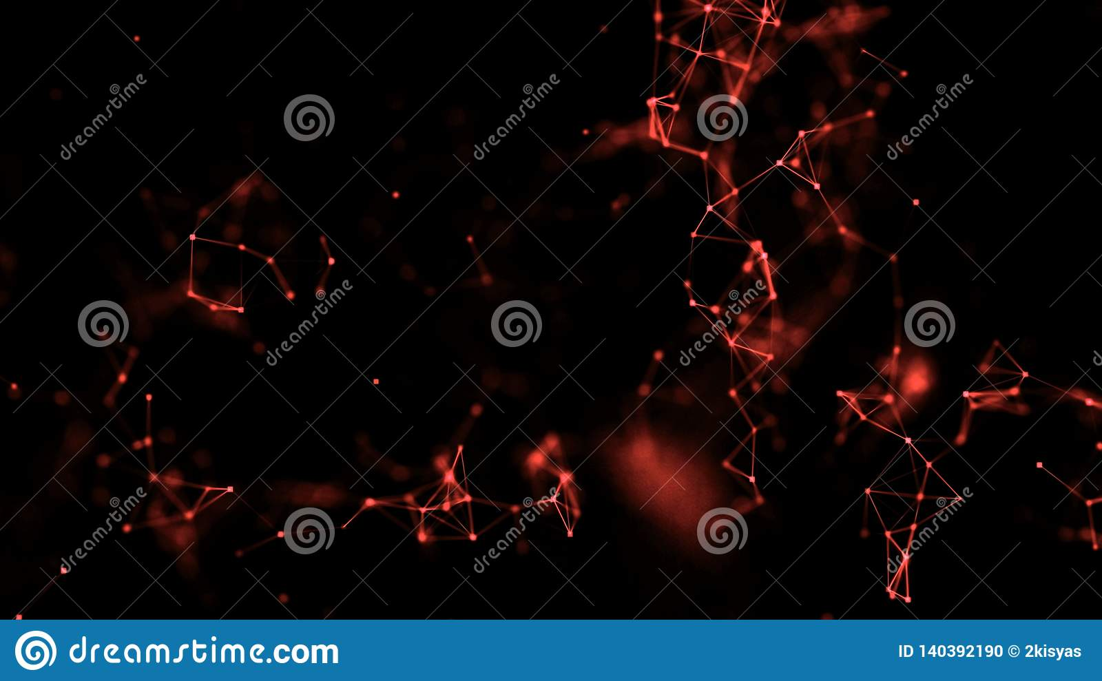 Rouge médical de mutation atomique de connexions de plexus de résumé