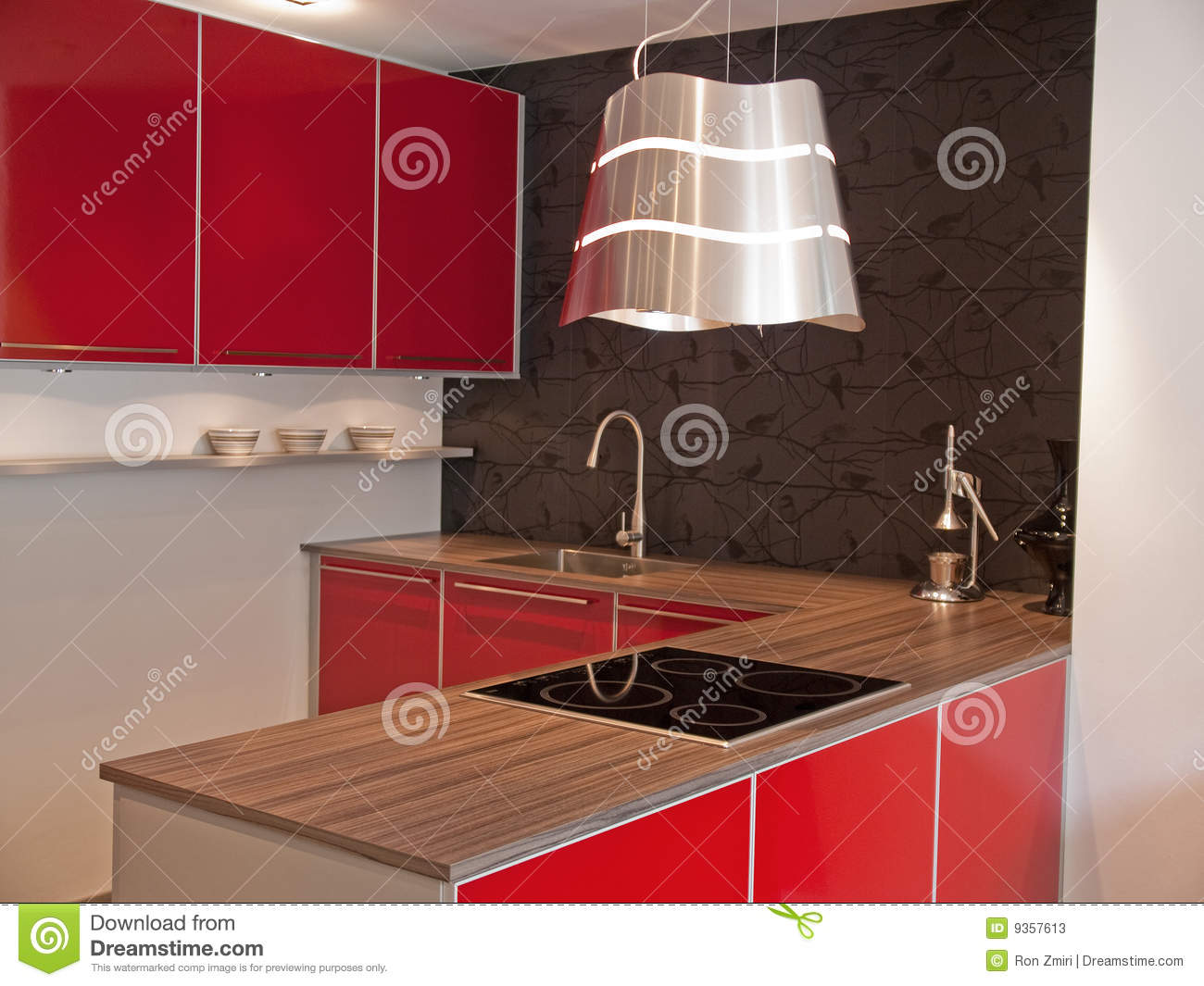 Rouge Moderne De Cuisine Photos Stock Image 9357613