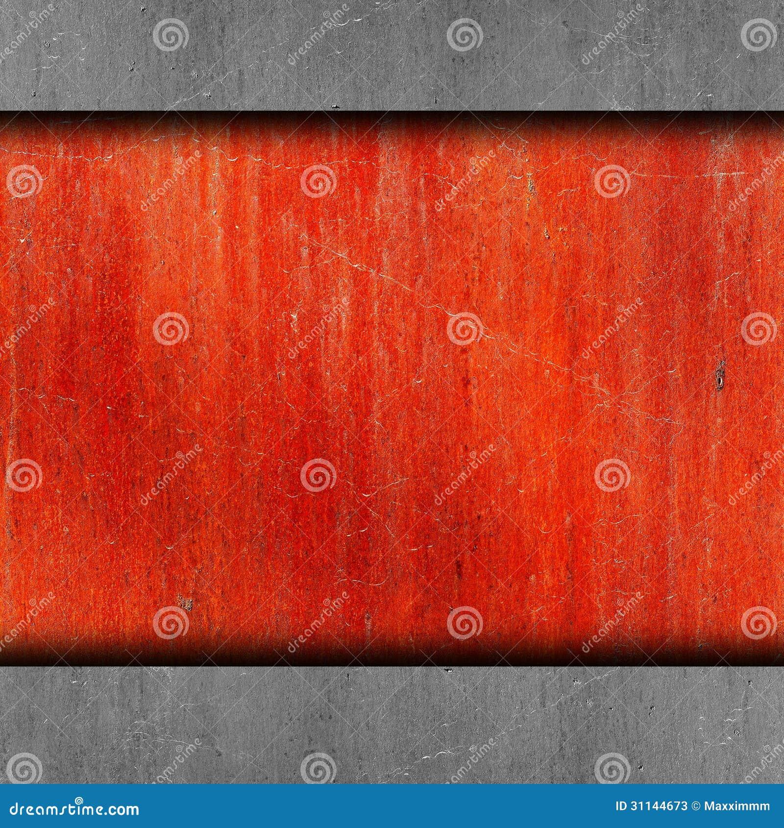 Rouge Peinture Vieil Abrégé Sur Rouillé Grunge De Mur De Fer Image