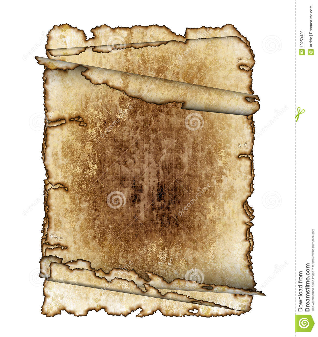 rough antique parchment paper scrolls royalty free stock