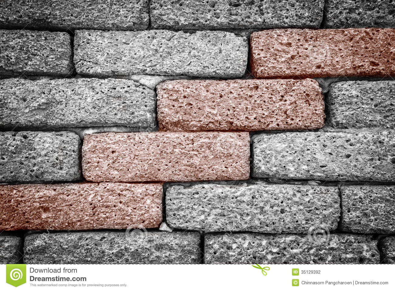 Rough Brick Wall Stock Photography - Image: 35129392