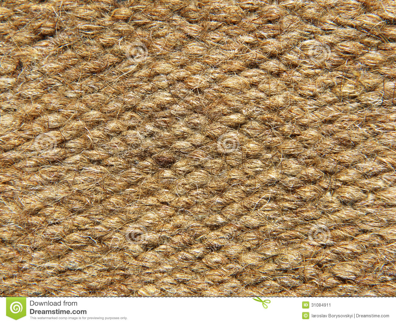 Rough Brown Camel Wool Fabric Texture Background Stock
