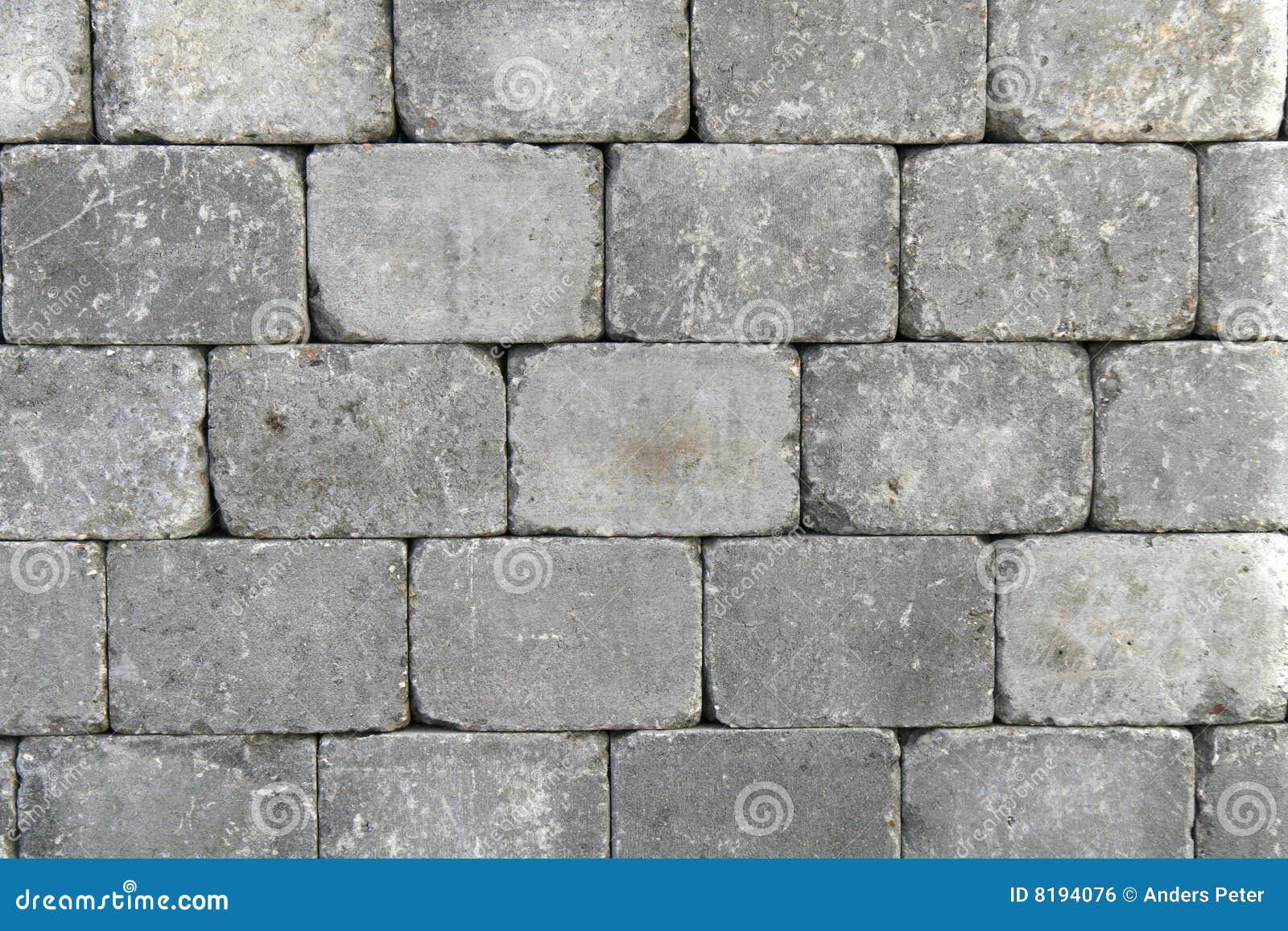 Granite Stone Blocks : Rough granite block wall royalty free stock image