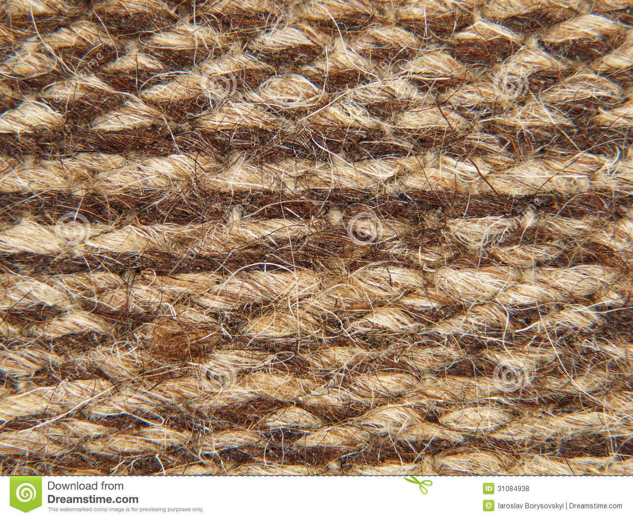 Rough Knit Camel Wool Fabric Texture Pattern Royalty Free