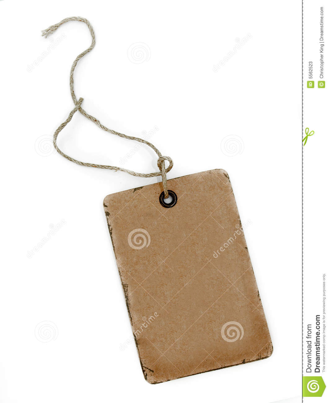 Rough Old Brown Card Tag Label Stock Photos - Image: 5562523