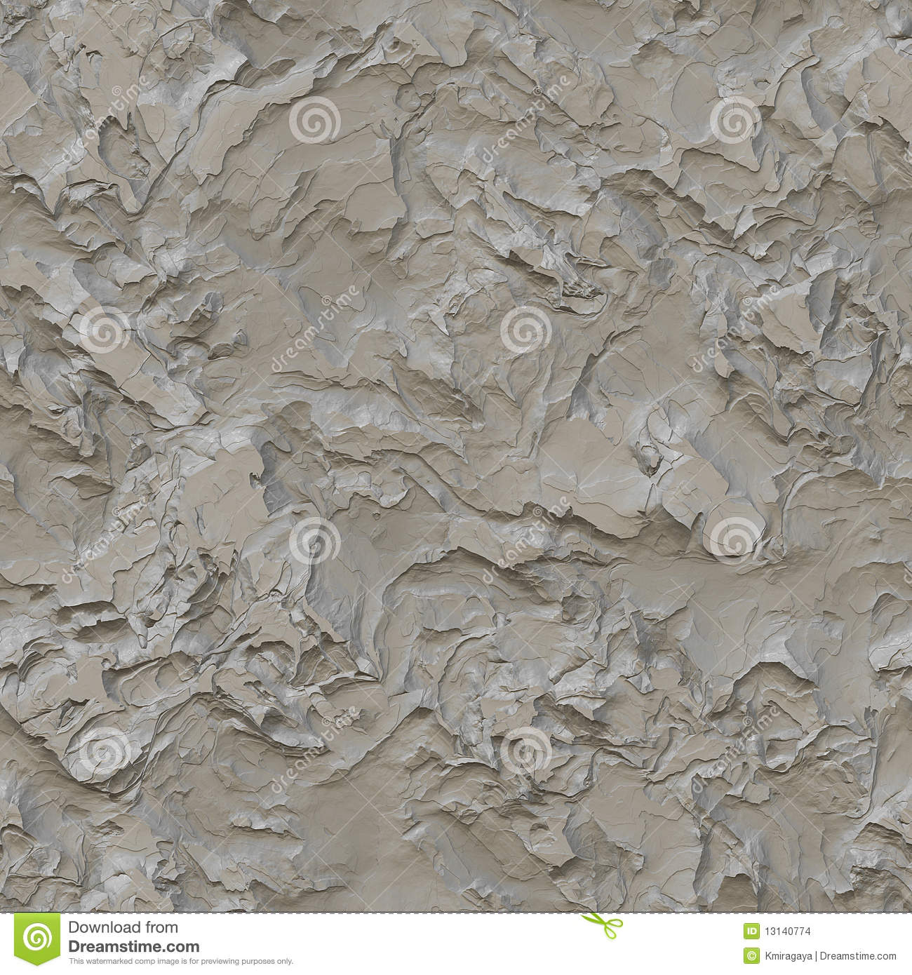 Rough Plastered Wall Seamless Texture Stock Illustration