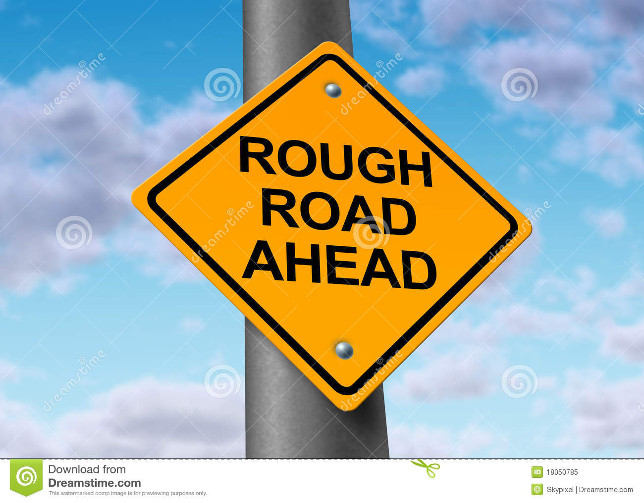 Read United States Bankruptcy Court >> Rough Road Ahead Street Sign Royalty Free Stock Photo ...