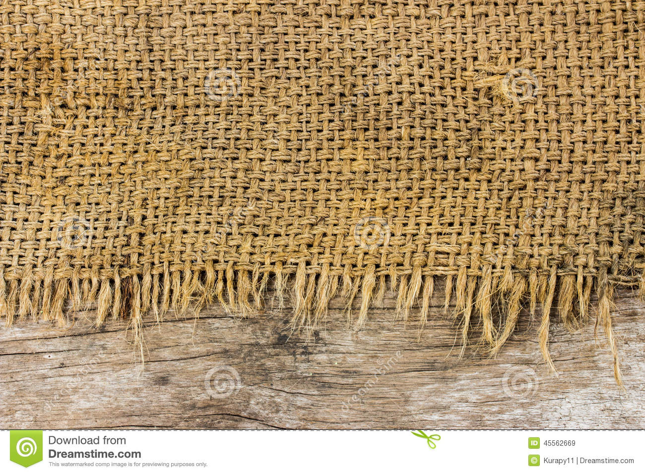 Rough Sack Material And Wooden Texture Stock Photo - Image ...