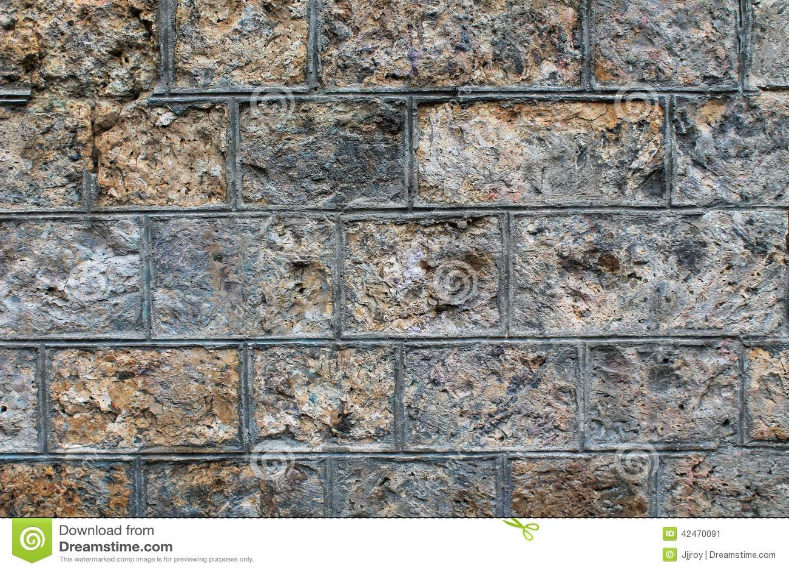 Rough Granite Block : Rough stone block wall background stock photo image