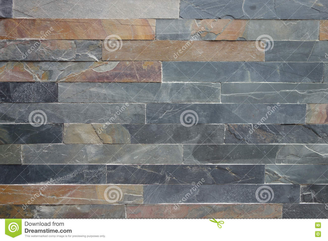 Download Rough Stone Cladding Tiled Wall Stock Image
