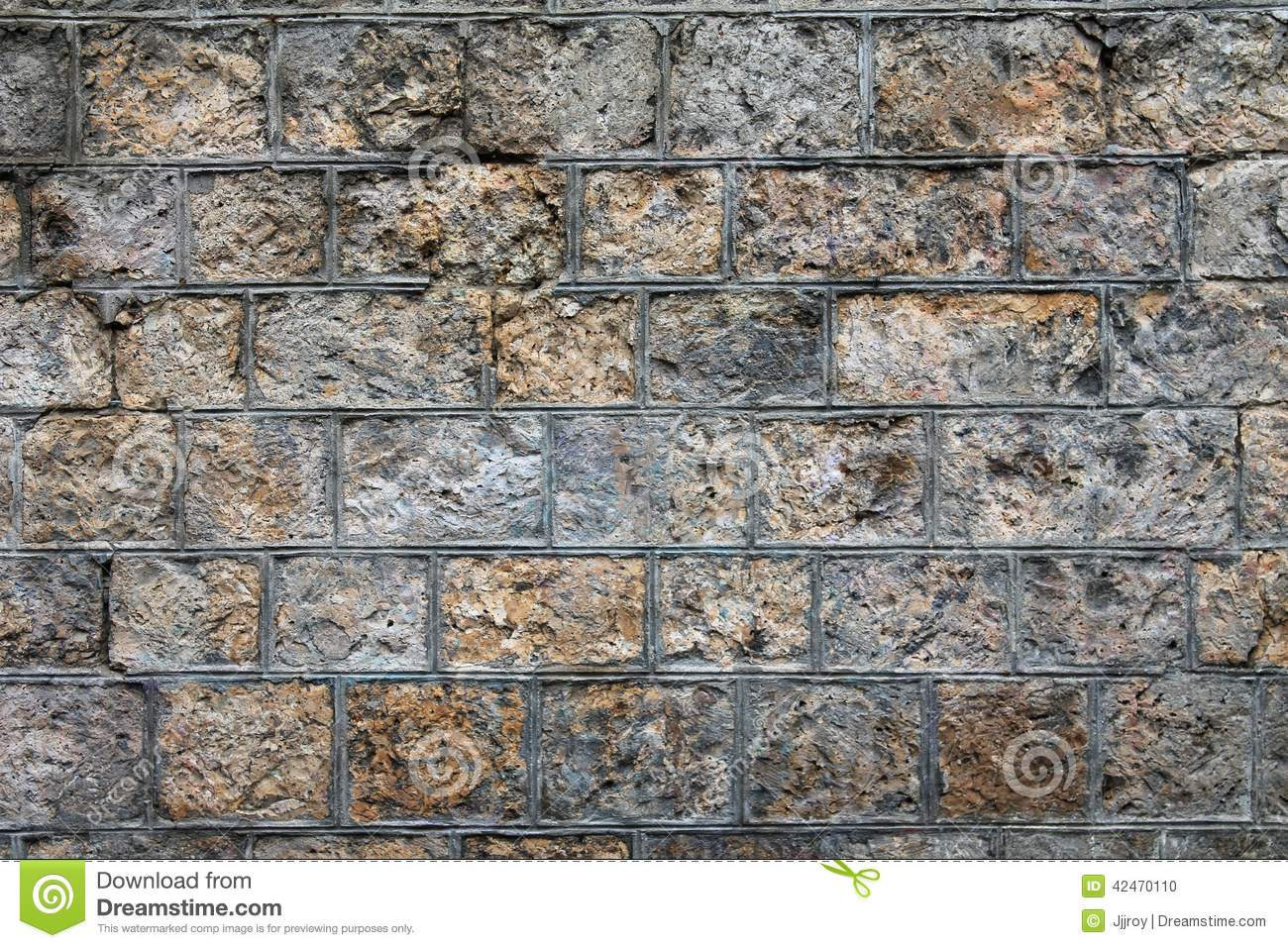 Rough Granite Block : Rough stone wall background stock photo image