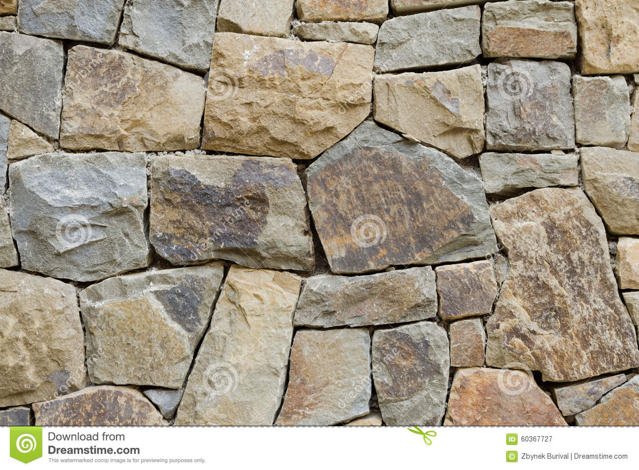 Rough Granite Block : Rough stone wall texture stock image of background