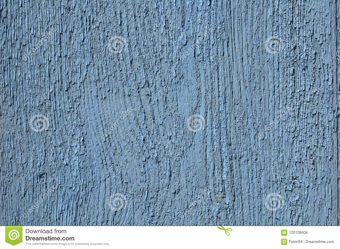 Wood board rough texture painted in blue