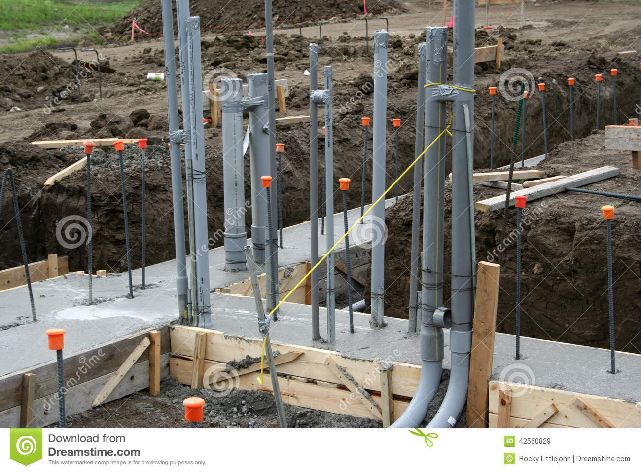 Roughed In Electrical Conduit 4 Stock Photo Image 42560829