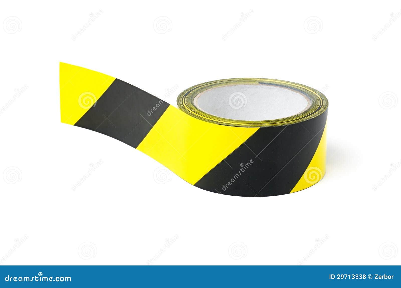 Bande noire et jaune de précaution