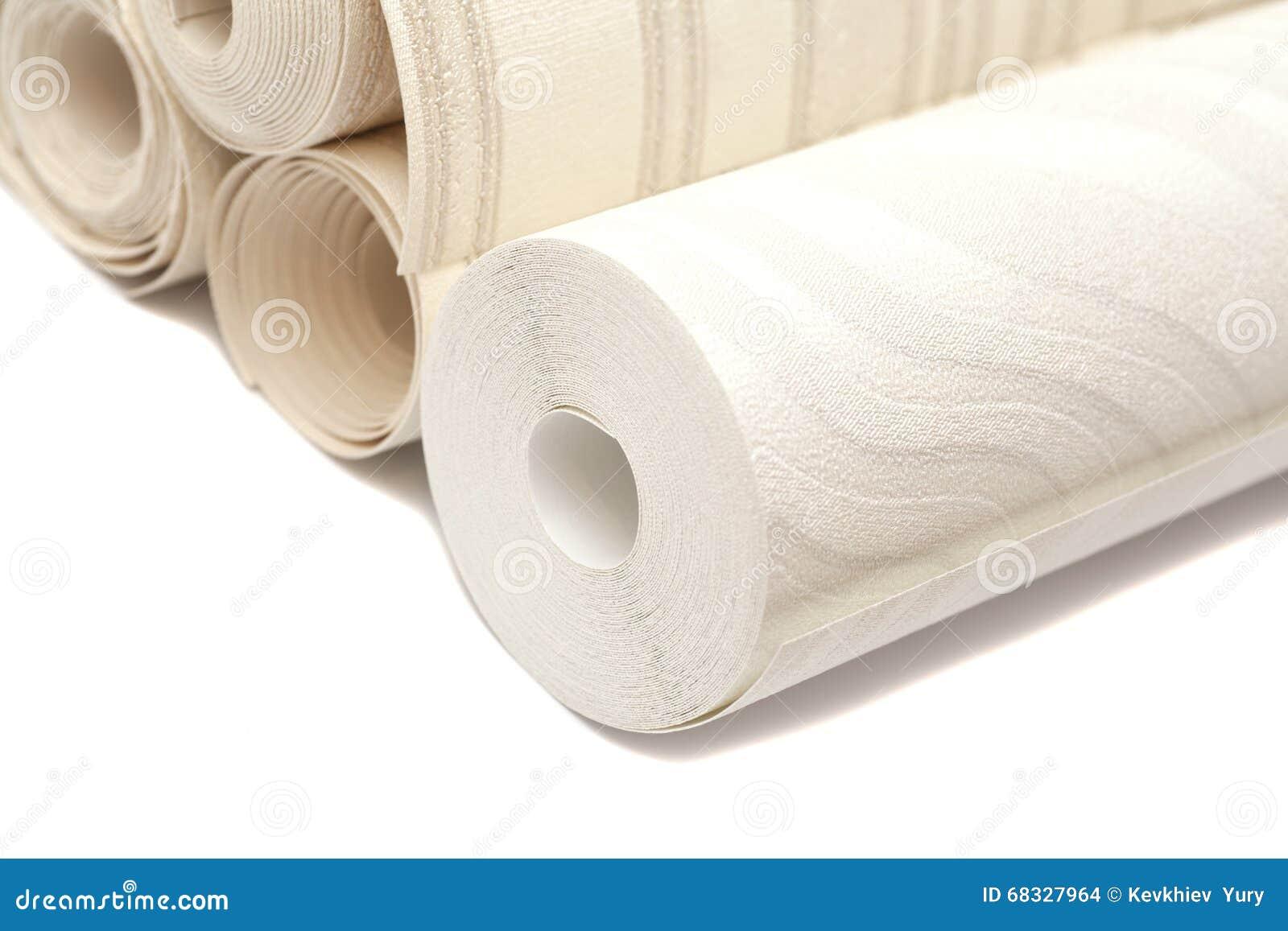 Rouleau De Papiers Peints De Vinyle Sur Le Blanc
