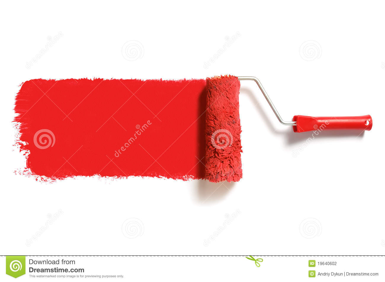 Rouleau de peinture rouge photo stock image du id e for Rouleau de peinture decorative