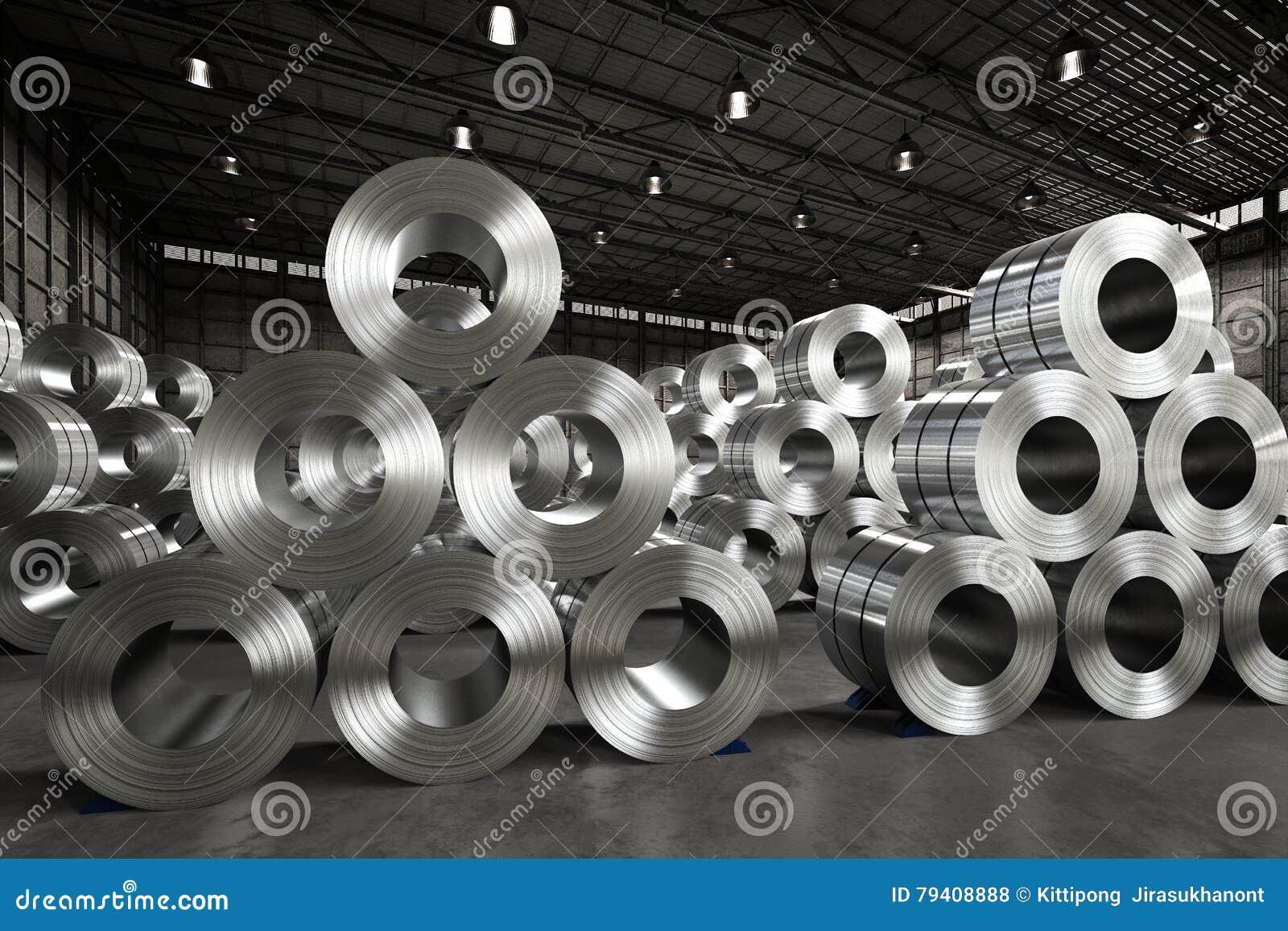 Rouleau de tôle d acier dans l usine