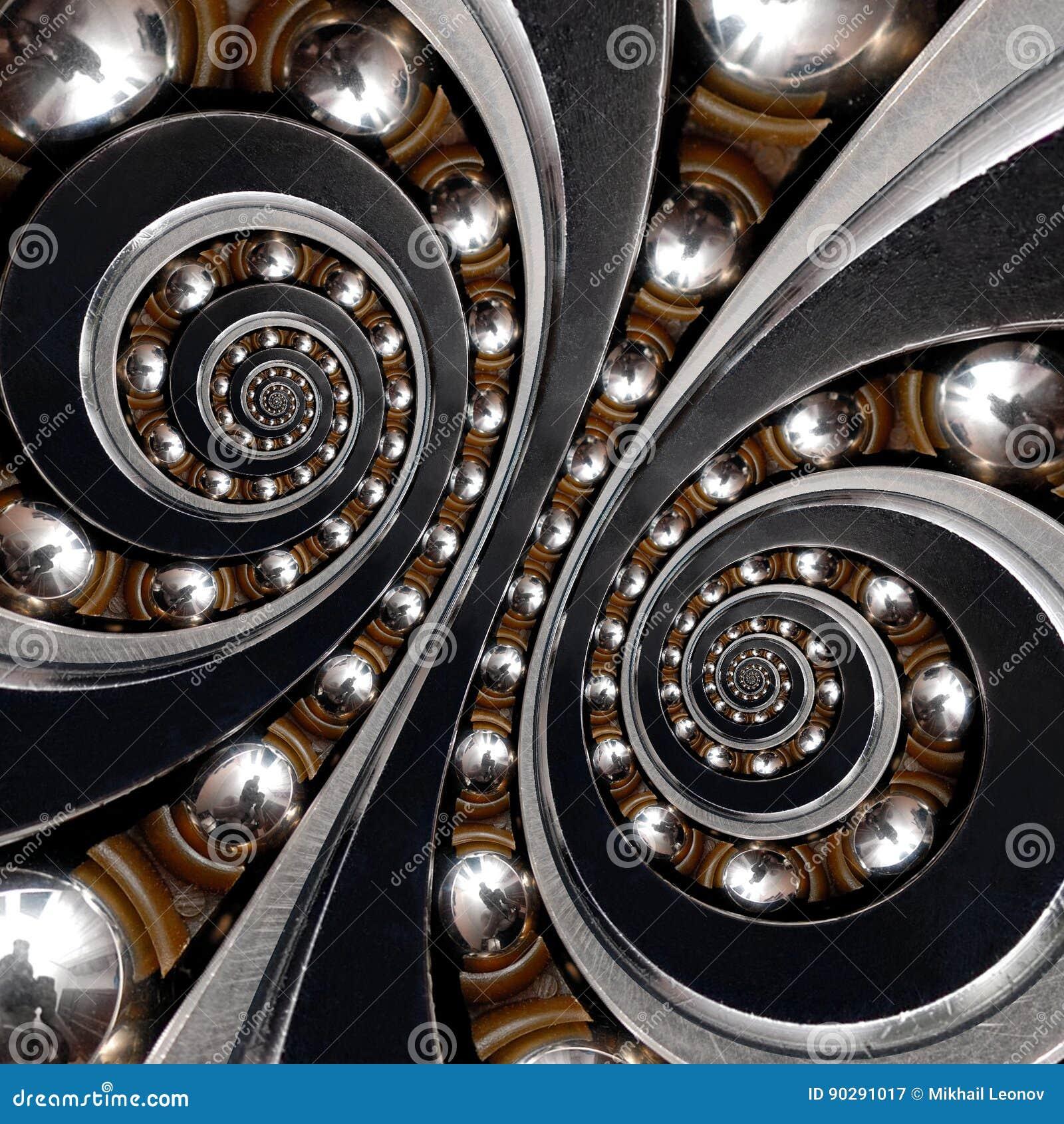Roulement à billes industriel Double backgroun en spirale d abrégé sur effet