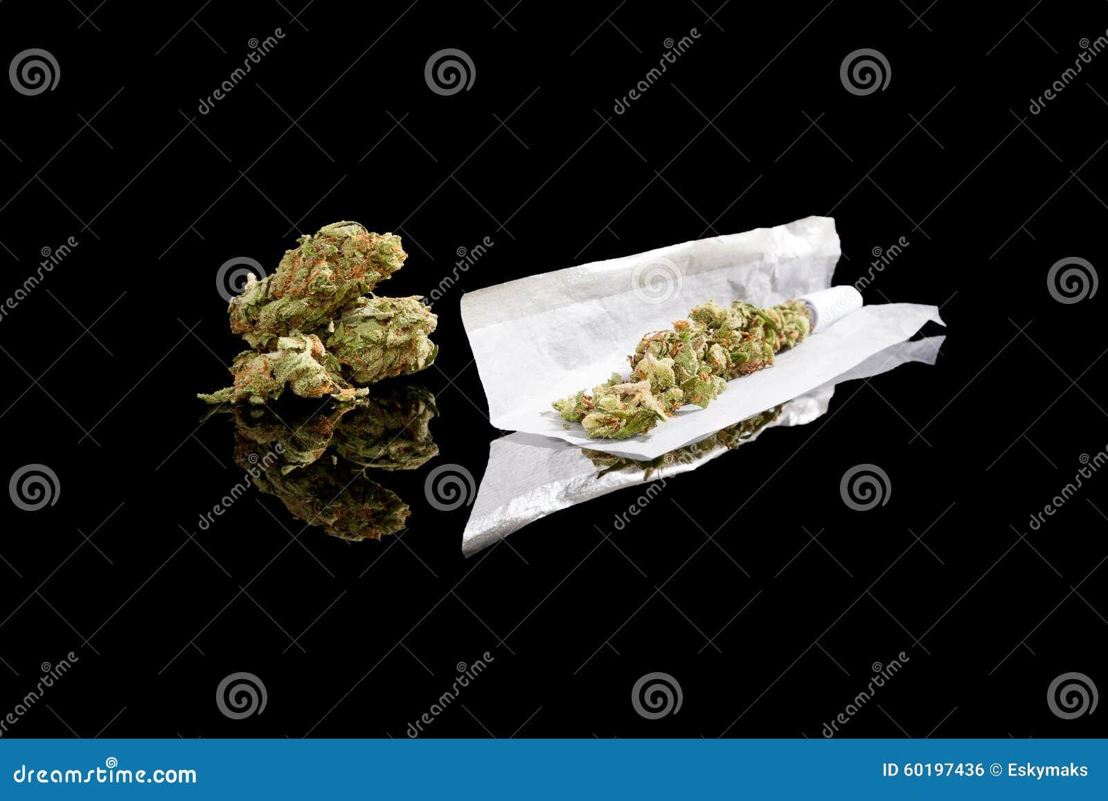 Roulement d un joint de cannabis