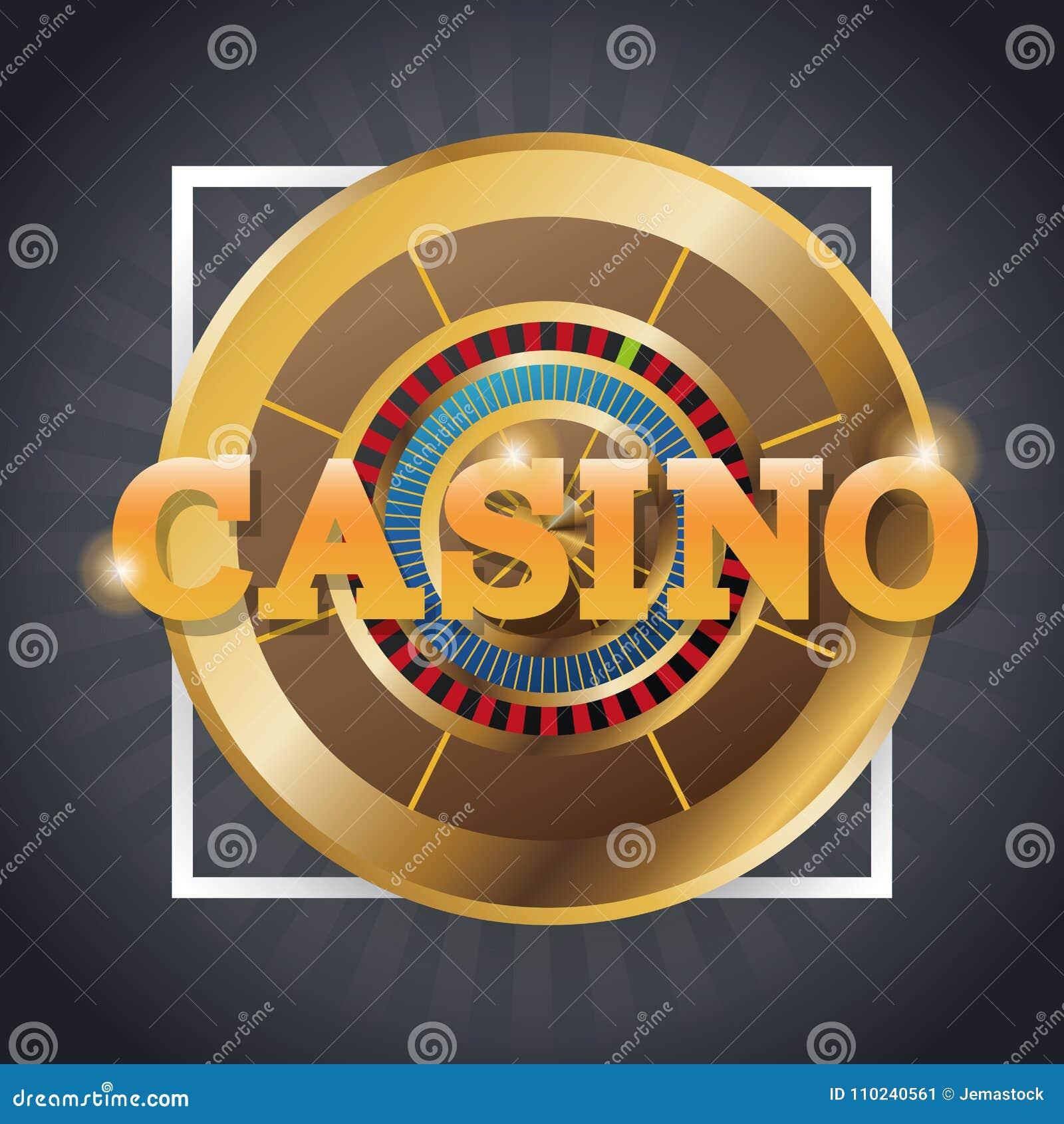 Roulette Of Casino Inside Frame Design Stock Vector - Illustration ...