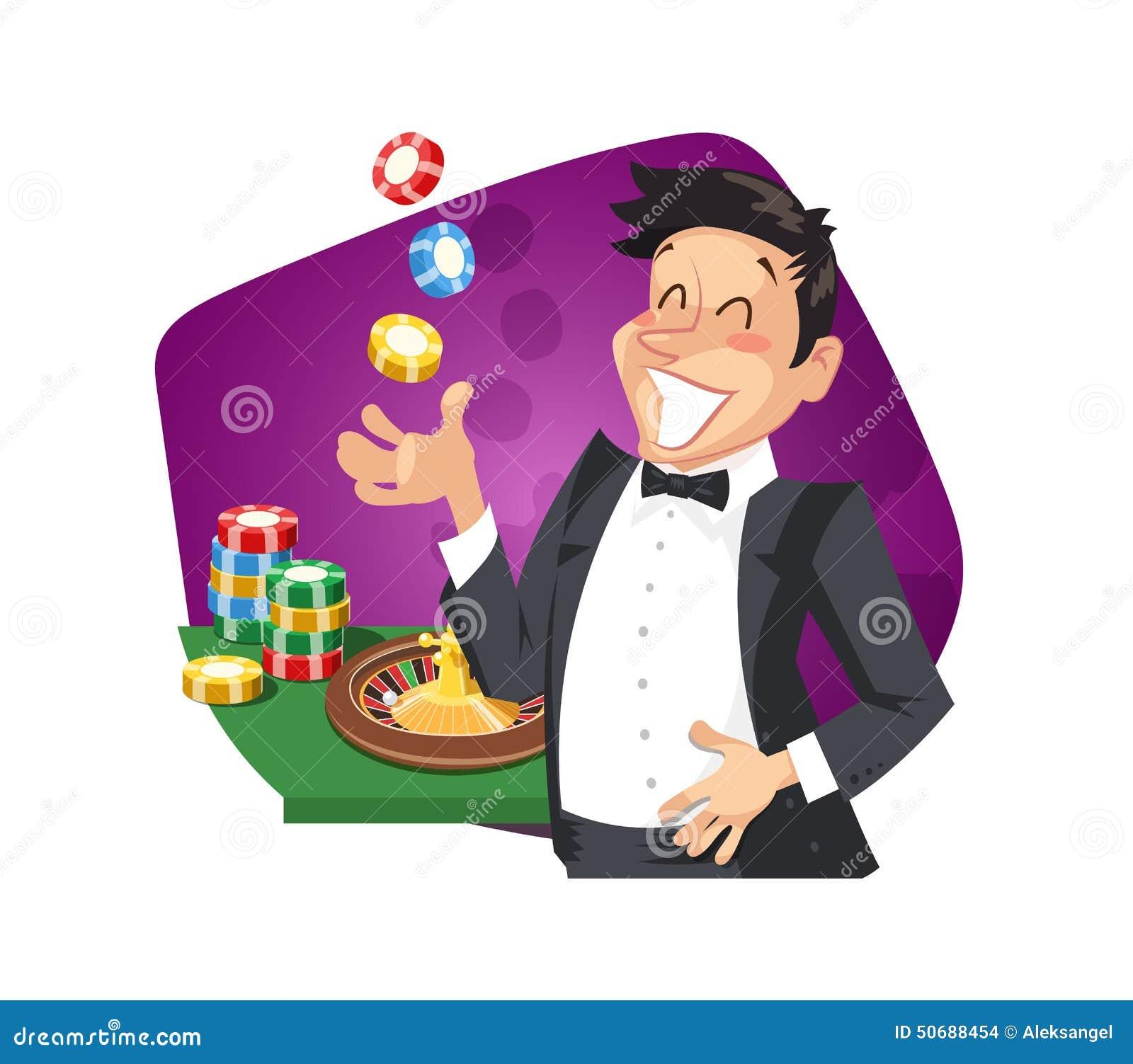 Roulette del gioco dell uomo in casinò
