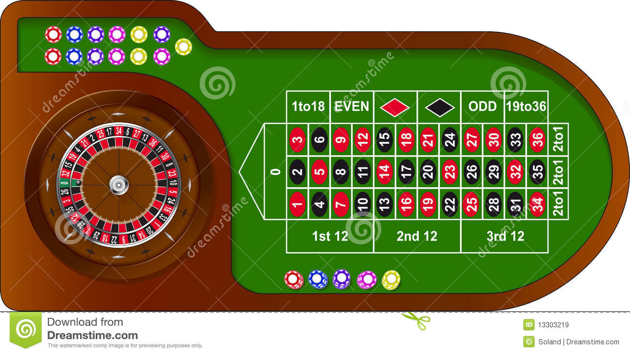 roulette game table stock vector illustration of. Black Bedroom Furniture Sets. Home Design Ideas