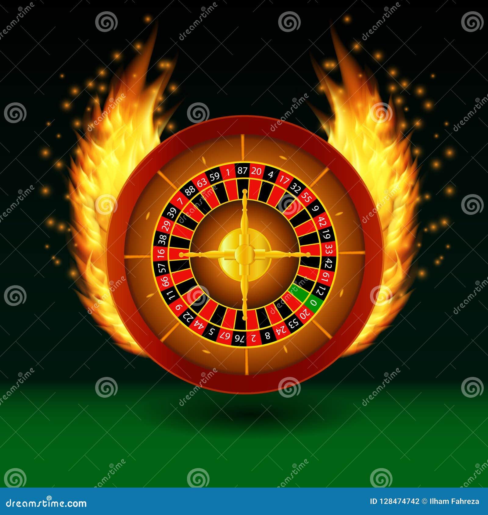 Roulette met brand