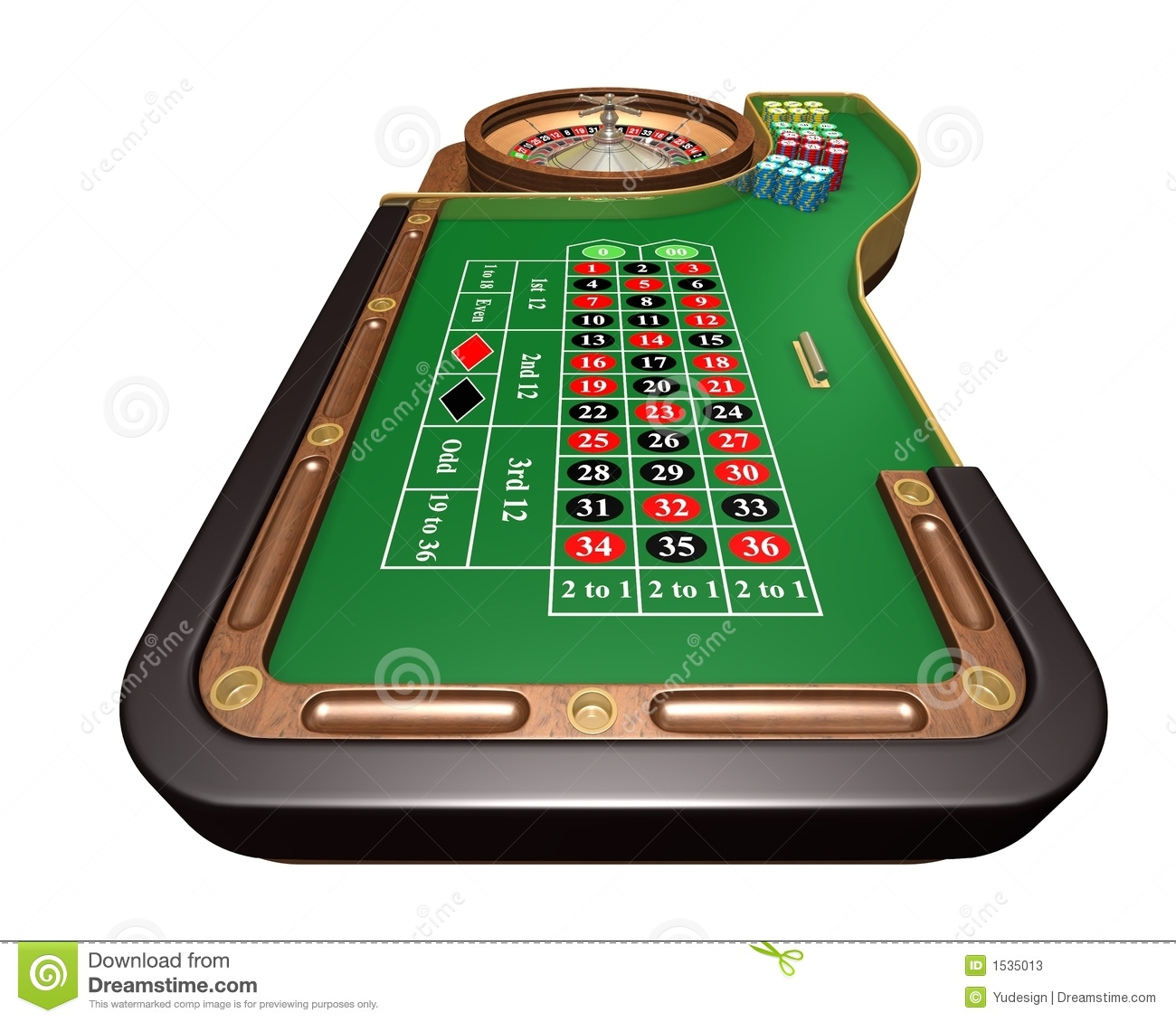 Roulette table stock photos image 1535013 - Table tv a roulettes ...
