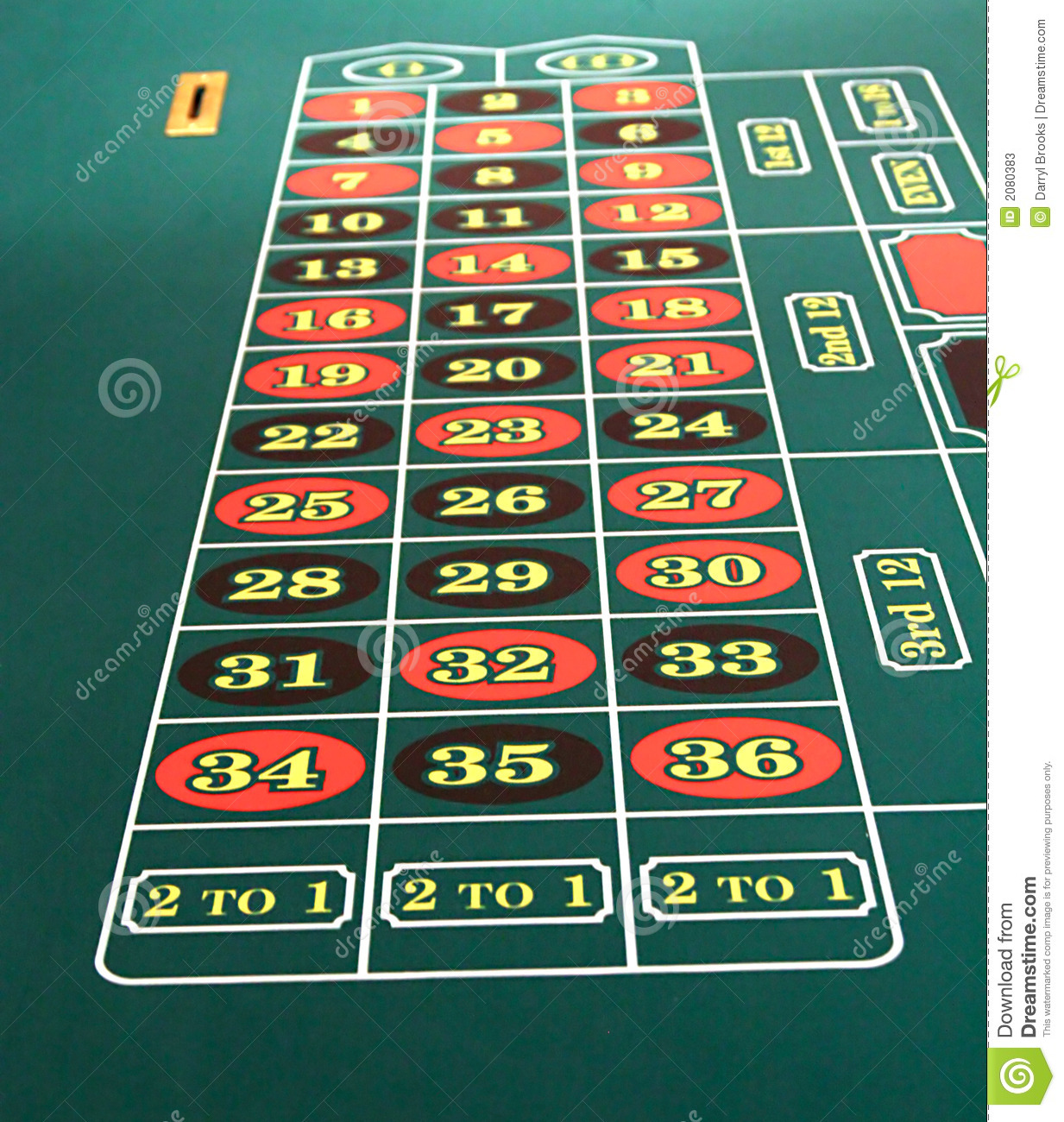 Roulette table stock photos image 2080383 - Table a roulette ...