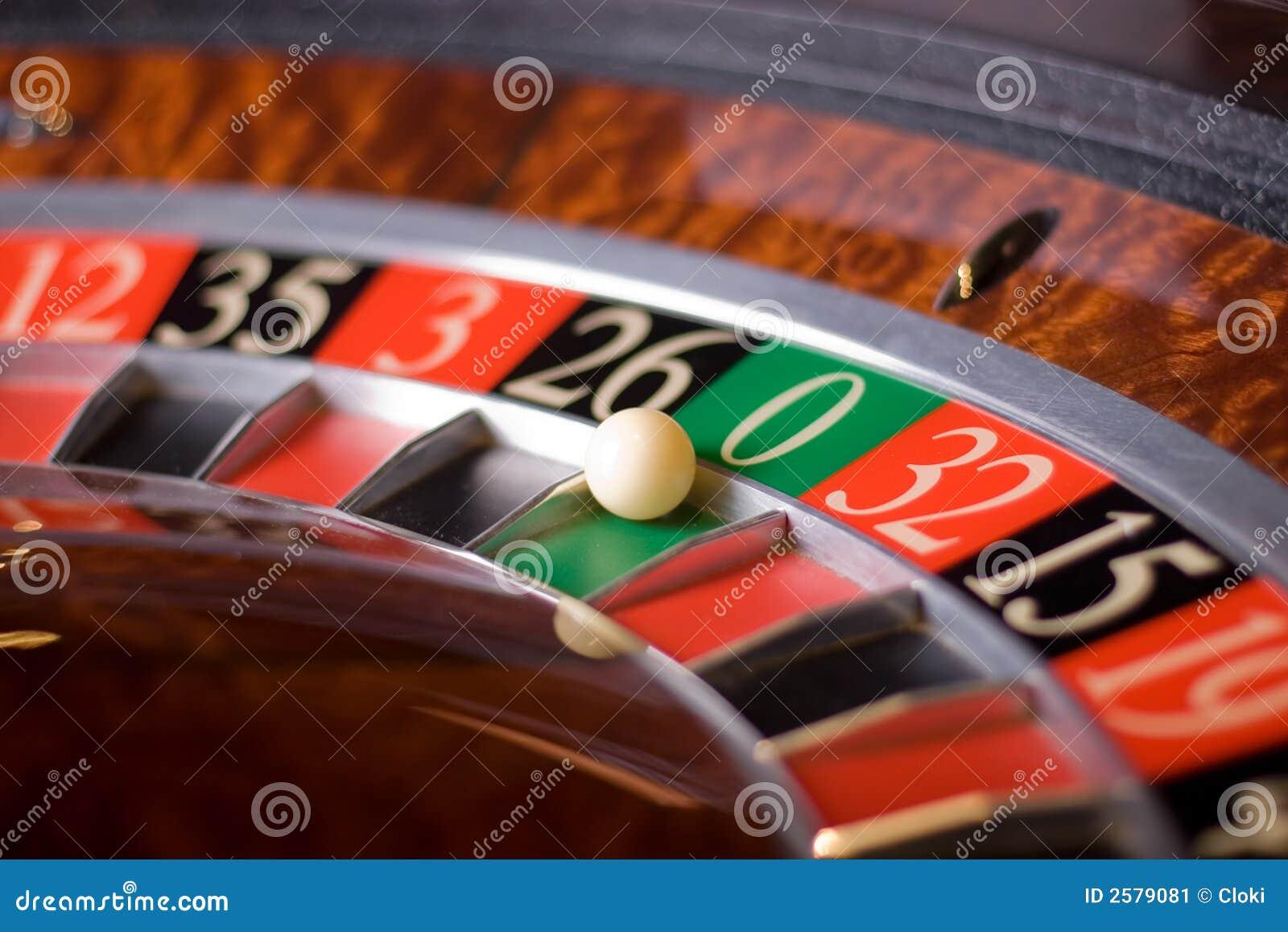 Roulette van het casino, nul wint