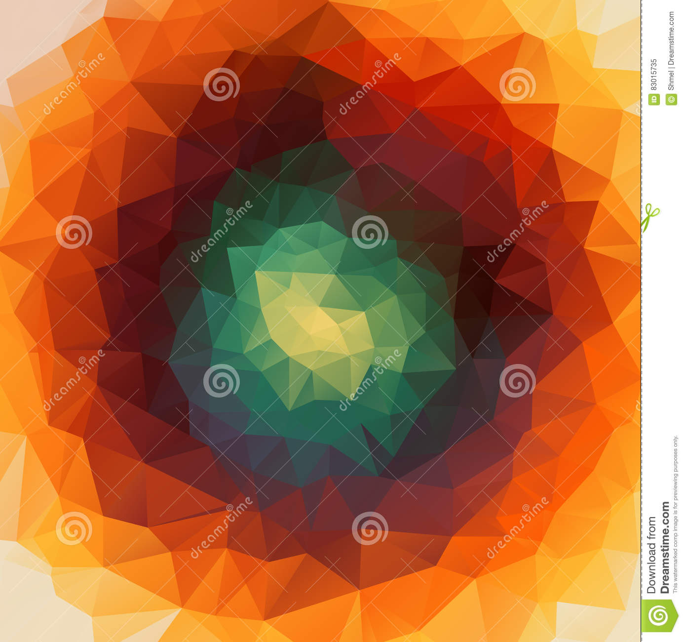 Round Abstract 2D Geometric Colorful Background Stock Vector ...