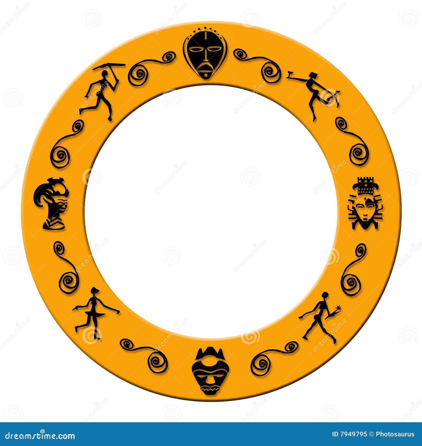 Round african border stock illustration. Illustration of conceptual ...