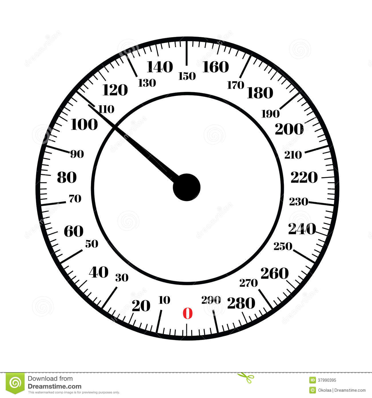 Round Analog Dial Interface Of Scale Royalty Free Stock