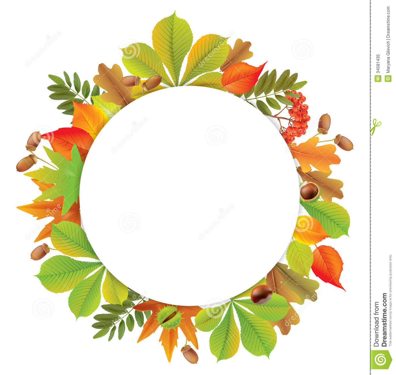 Royalty Free Stock Photo Round Autumn Banner Contains Transparent Objects Eps Image34581435 on Gold Circle Frame