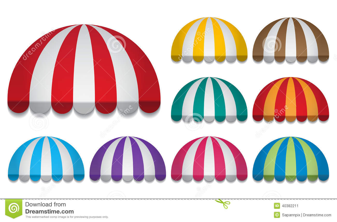 Round Awnings Stock Vector Image 40382211