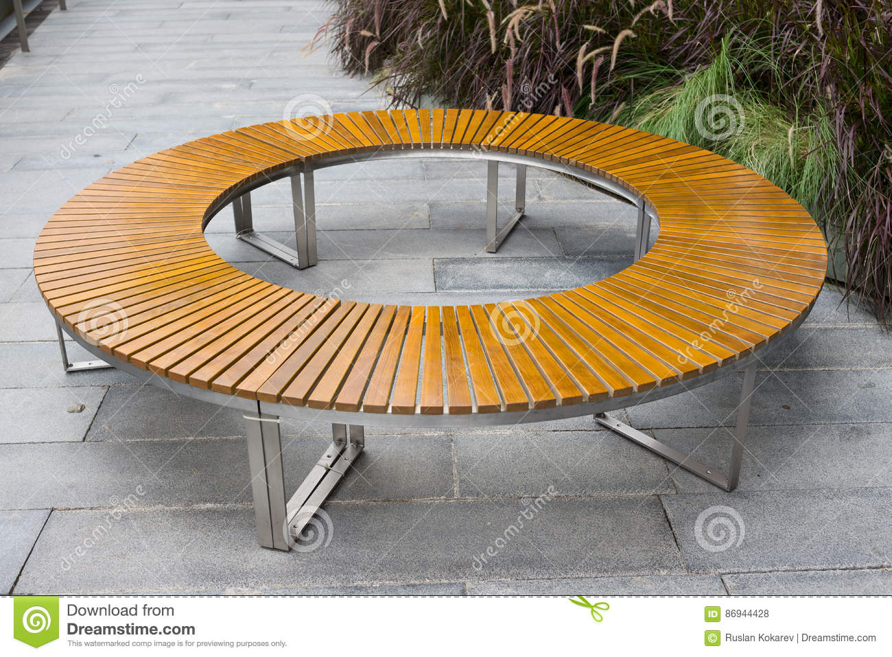 Swell Round Bench Stock Photo Image Of Modern Tropical Wood Cjindustries Chair Design For Home Cjindustriesco