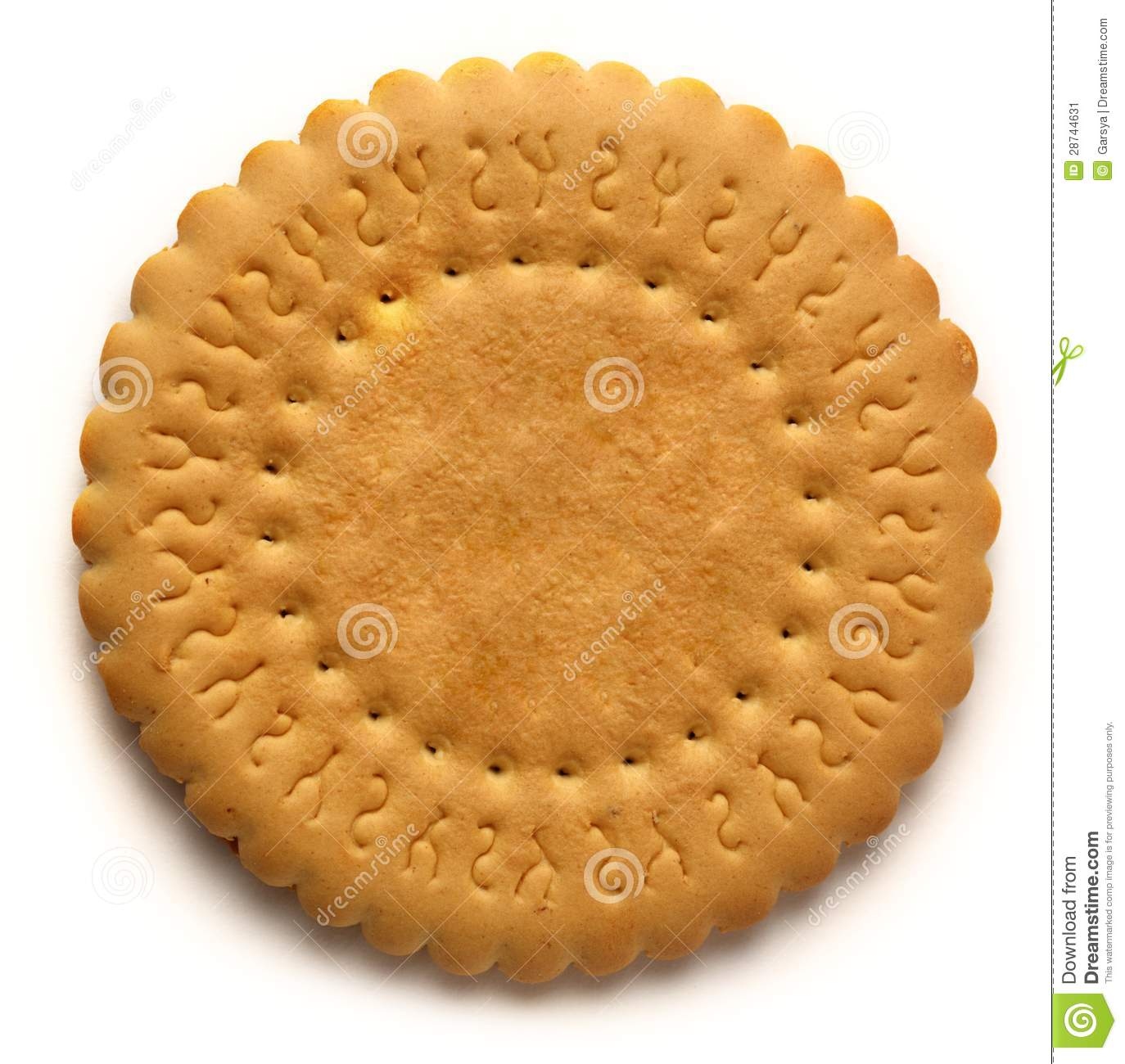 Round Biscuit Stock Image - Image: 28744631