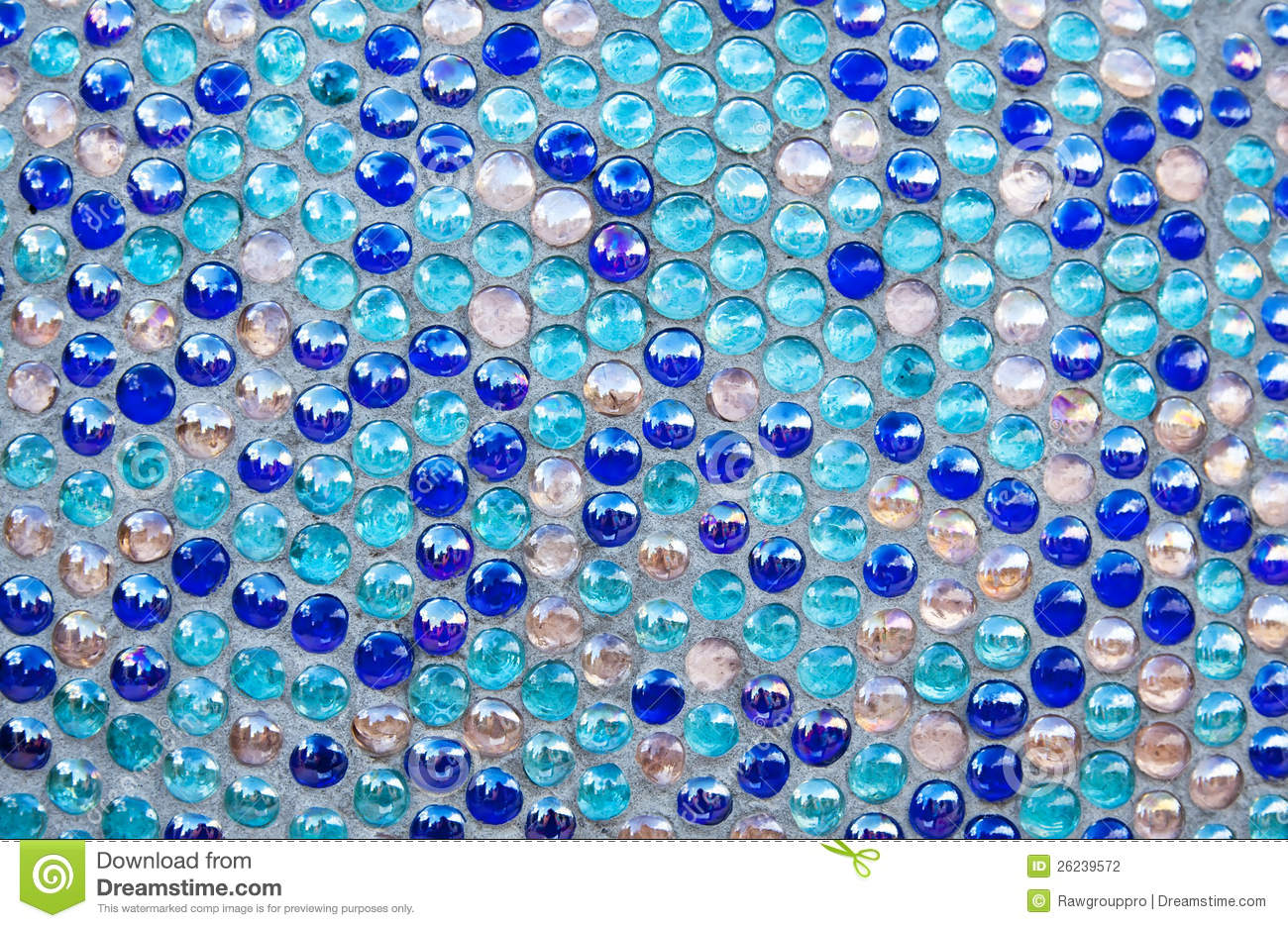 Round Blue Glass Mosaic Pattern Stock Photography Image