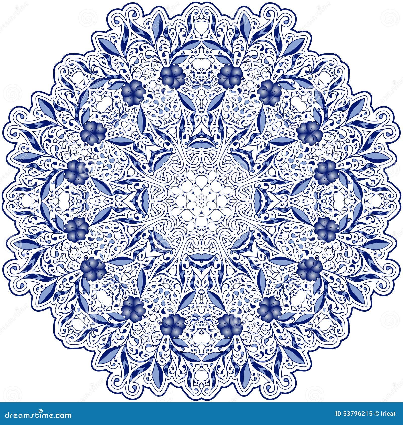 light blue lace mandala - photo #34
