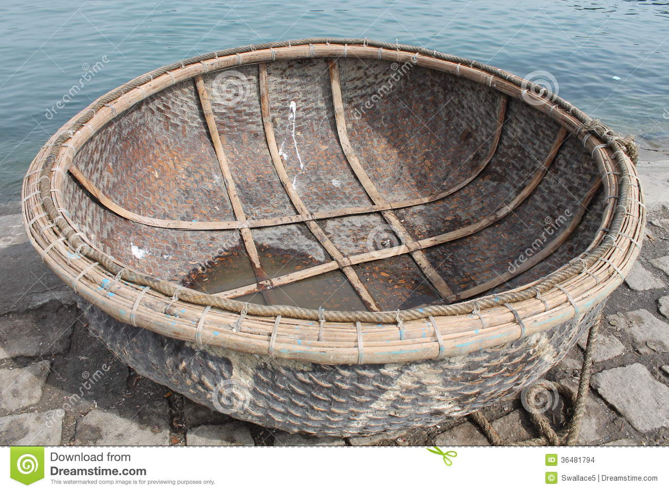 Round boat vietnam stock photo image of historic for Round fishing boat