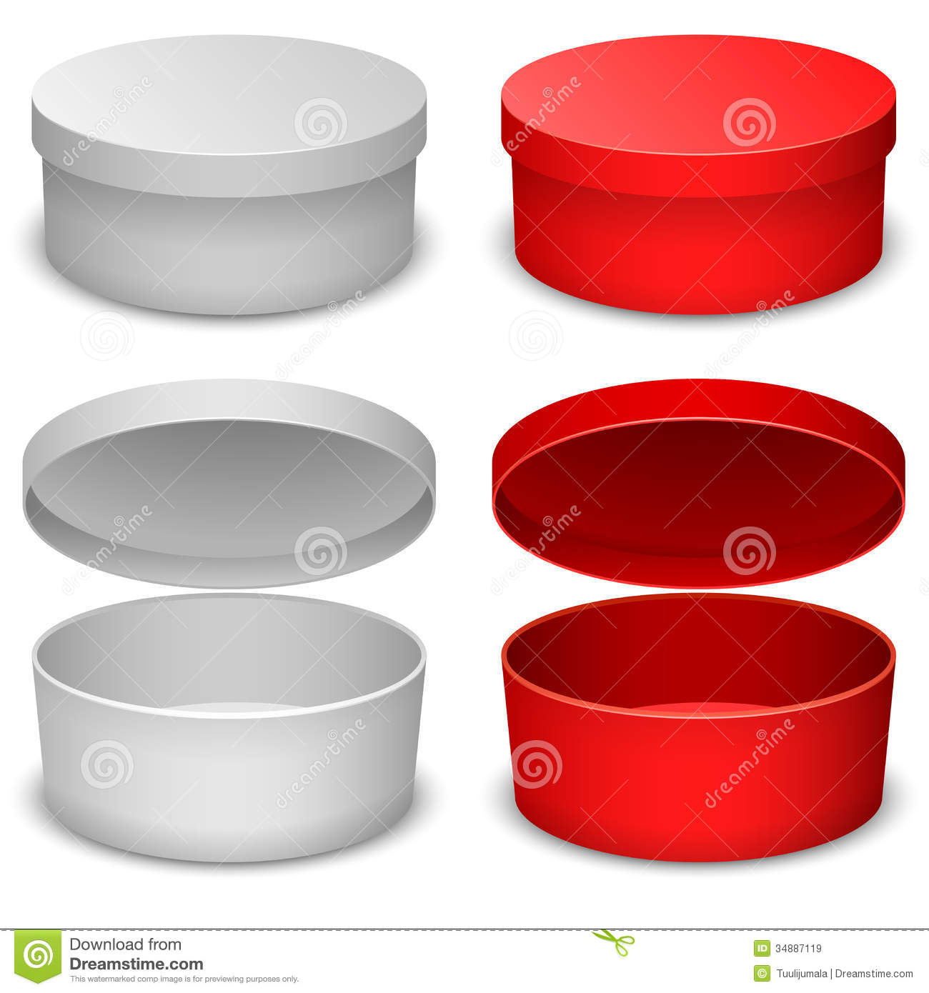 Round box template stock vector image of commercial 34887119 round box template pronofoot35fo Images