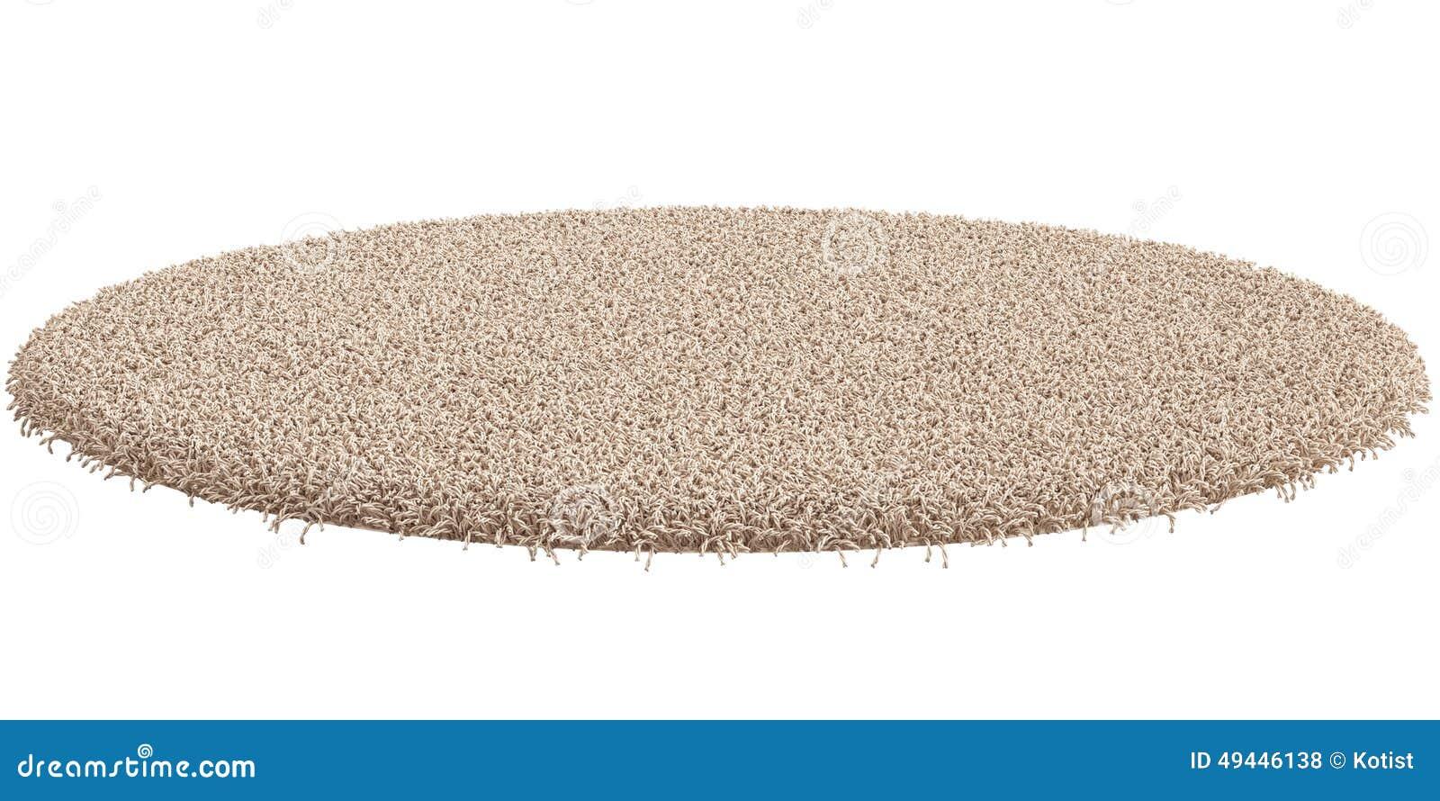 white carpet background. round carpet isolated on white background royalty free stock photos