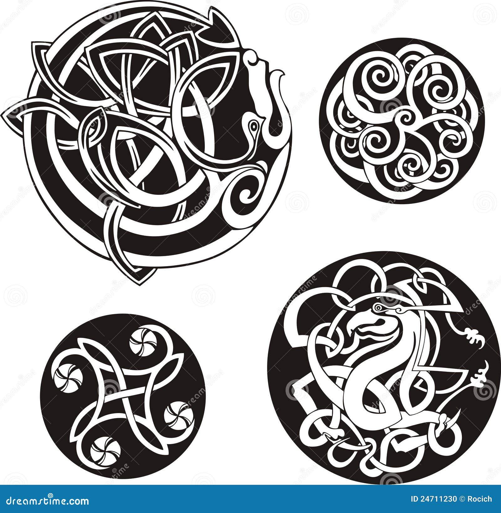round celtic knots stock photo image 24711230. Black Bedroom Furniture Sets. Home Design Ideas