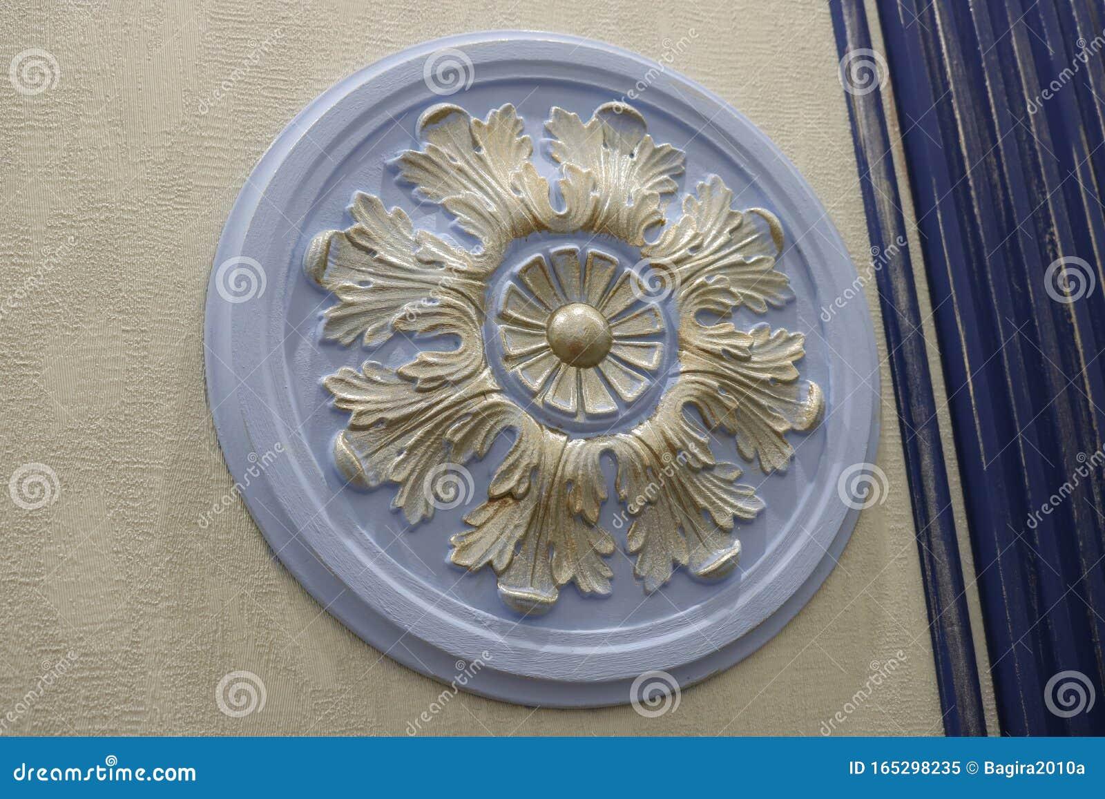 Round Ceramic Wall Decor Element In Retro Style Stock Image Image Of Retro Wall 165298235