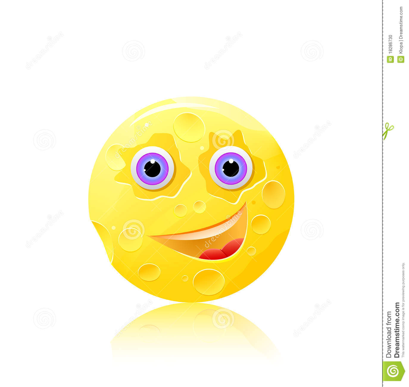 round cheese with eyes and smile icon stock vector illustration of