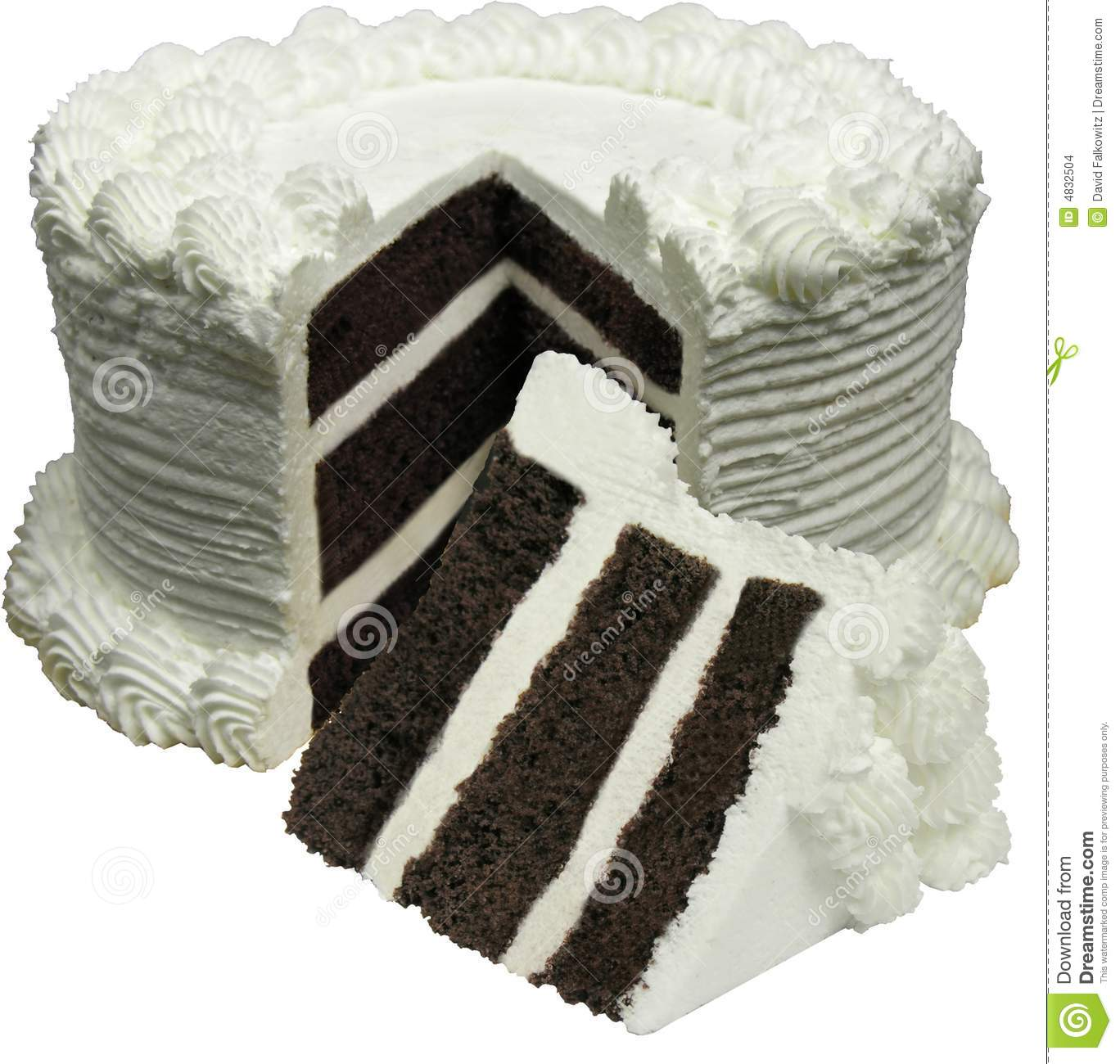 Round Chocolate Cake Stock Images - Image: 4832504
