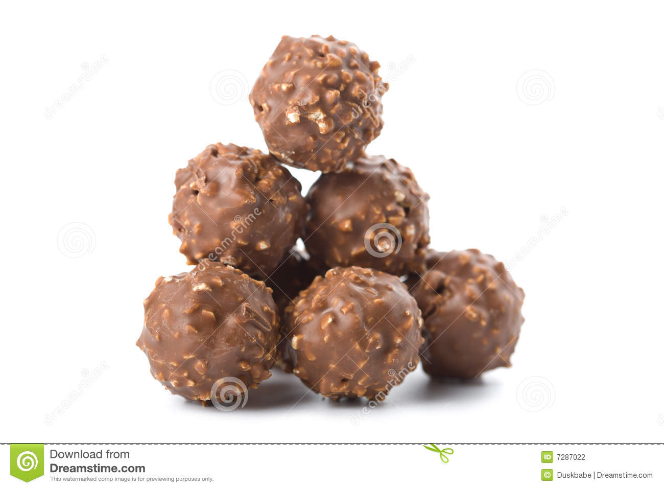 Round Chocolate Candies Isolated Stock Photography - Image: 7287022